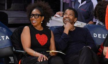Denzel Washington: Σε αγώνα των Lakers με την σύζυγό του