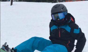 Η οικογένεια Beckham κάνει σκι