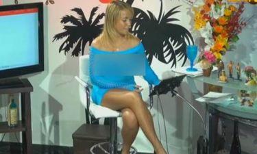 Παρουσιάστρια κάνει ρεπορτάζ χωρίς… σουτιέν