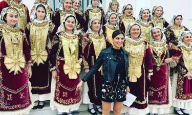 Η Σταματίνα Τσιμτσιλή παρουσιάστρια του καρναβαλιού