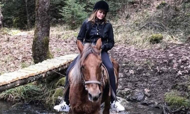 Τζένη Μπαλατσινού: Εξόρμηση με τον γιο της Μάξιμο