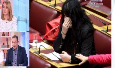 Ξέσπασε σε κλάματα στην Βουλή η Βαγενά