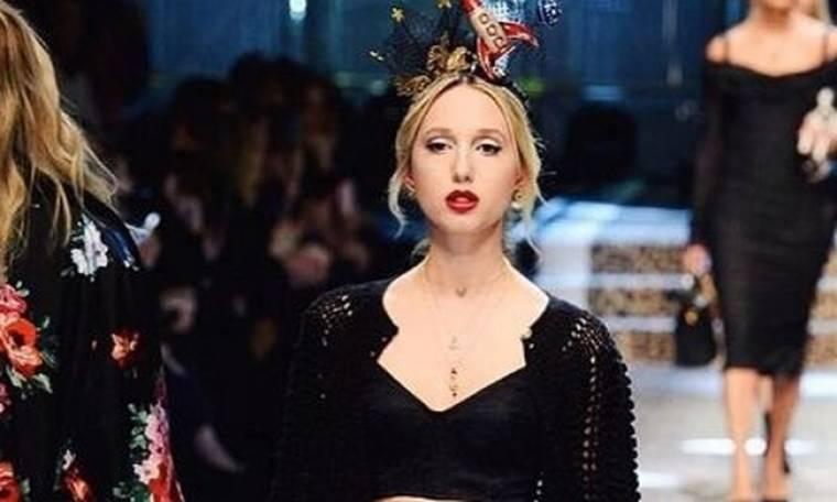 Η Μαρία – Ολυμπία στη πασαρέλα με Dolce & Gabbana