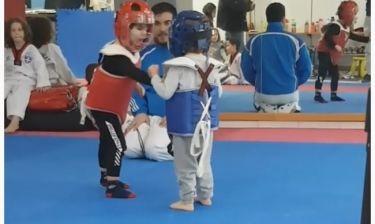 Απολαυστικό βίντεο!  Ο γιος του Μανίκα παίζει Tae kwon Do