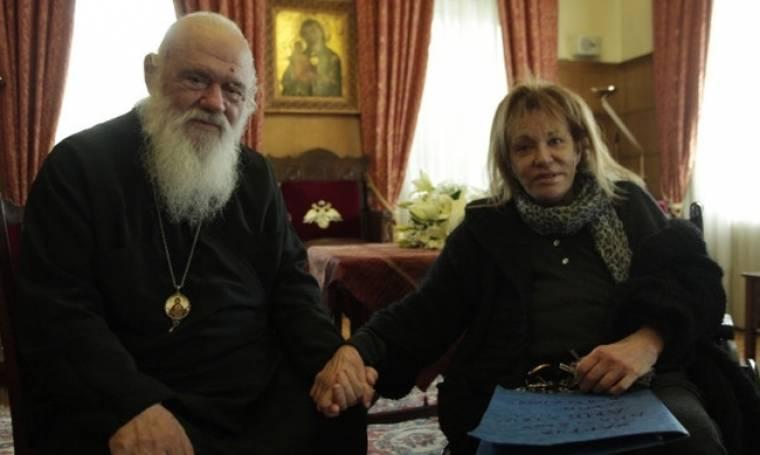 Η επίσκεψη της Μαίρης Χρονοπούλου στον Αρχιεπίσκοπο Ιερώνυμο