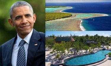 Ο Μπαράκ Ομπάμα κάνει διακοπές στο νησί του Μάρλον Μπράντο (φωτο)