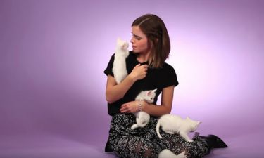 Emma Watson: Συνέντευξη με… γατάκια
