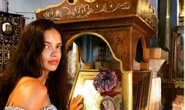 Προσκύνησε τον Άγιο Γεώργιο η Andriana Lima
