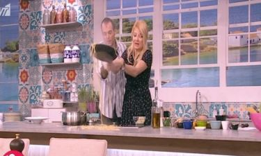 To ατύχημα της Φαίης Σκορδά στην κουζίνα του Πρωινού: Μακαρόνια παντού!