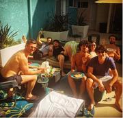 Το γεύμα του Παπακαλιάτη με φίλους στο Λος Άντζελες