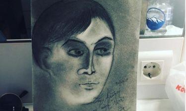 Έλληνας ηθοποιός ζωγράφισε το πορτρέτο νεαρής συναδέλφου του! (φωτό)
