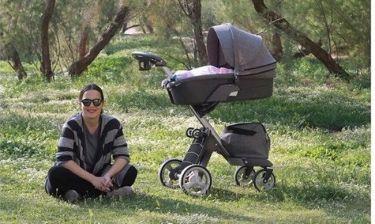 Ελιάνα Χρυσικοπούλου: Η πρώτη βόλτα με τη νεογέννητη κόρη της