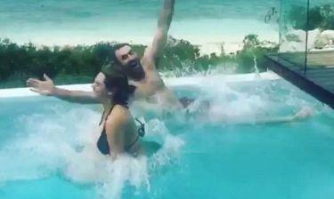 Οι βουτιές της Kate Upton στην πισίνα