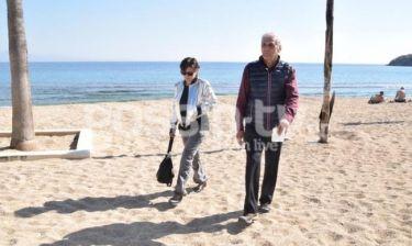 Δημοσθένης Βεργής: Με την σύντροφό του στη Μύκονο