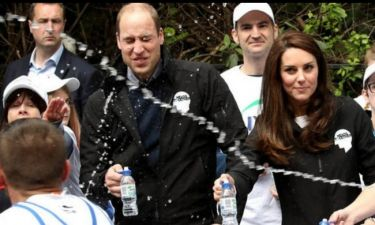 Δρομέας έριξε μπουκάλι με νερό στον πρίγκιπα William και την Kate Middleton!