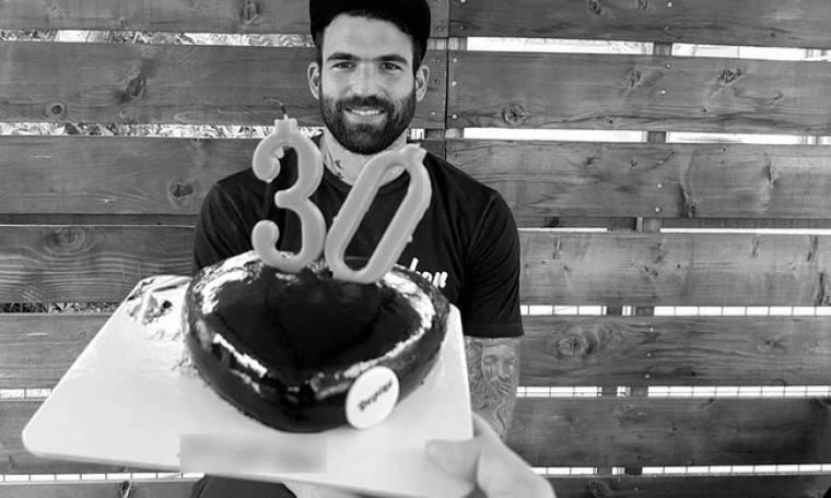 Δημήτρης Αλεξάνδρου: Tα γενέθλια και η τούρτα-καρδούλα!