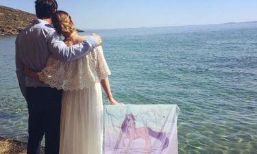 Δέσποινα Καμπούρη-Βαγγέλης Ταρασιάδης: Οι πρώτες εικόνες από τη βάφτιση της κόρης τους Χριστίνας!