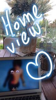 Έλλη Κοκκίνου: Η φωτό στη βεράντα του σπιτιού της