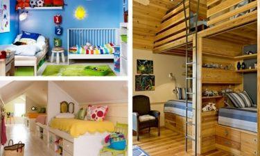 Deco: Έξυπνες ιδέες για κοινό παιδικό δωμάτιο