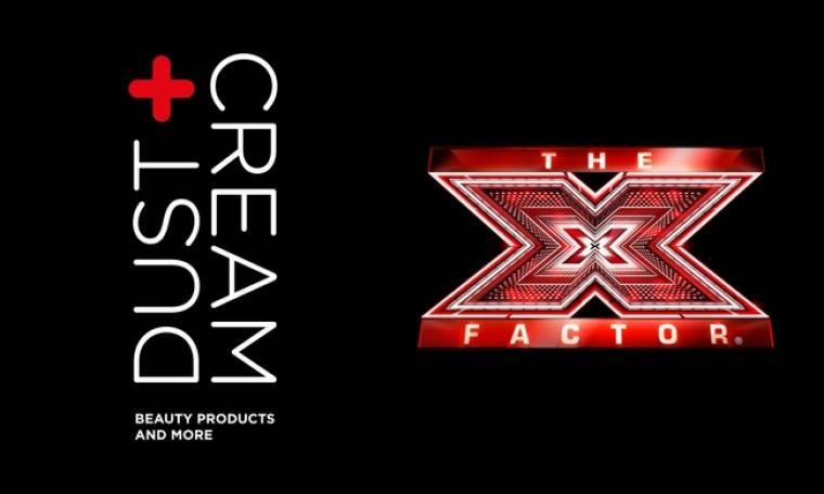 Τα καταστήματα DUST+CREAM επίσημος χορηγός μακιγιάζ του X FACTOR 2