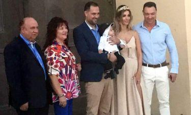 Αλεξάνδρα Λοΐζου- Βασίλης Σταθοκωστόπουλος: Βάπτισαν τον γιο τους