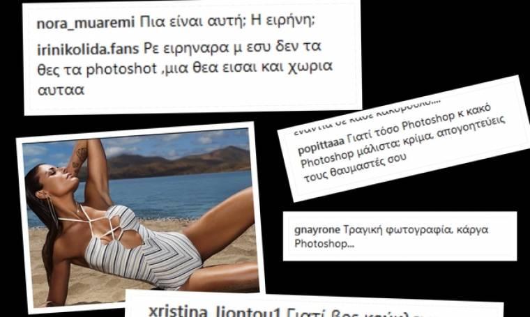 Survivor. Τα χώνουν στην Κολιδά για το photoshop.«Τραγική. Μας απογοητεύεις» (Nassos blog)