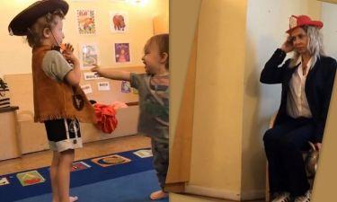Δείτε την Άννα Βίσση να γίνεται ξανά παιδί και να μεταμφιέζεται με τους εγγονούς της