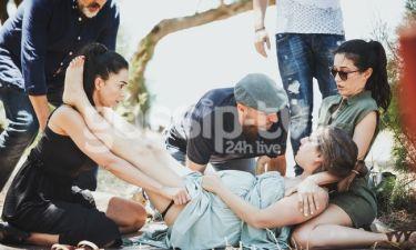Μπρούσκο: Oι πρώτες εικόνες με την Αναστασία να ξεγεννά τη Στέλλα μέσα στα χωράφια