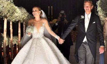Ο γάμος της χρονιάς! Παντρεύτηκε η κόρη του Swarovski- Το νυφικό της ζύγιζε 46 κιλά