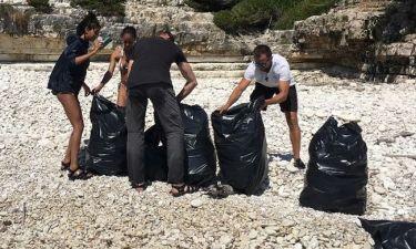 Η κόρη του Will Smith μάζεψε τα σκουπίδια από παραλία στους Αντίπαξους