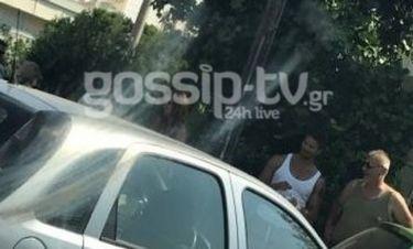 Επι τόπου. Τροχαίο σοκ για τον Μανίκα. Στο αυτοκίνητο η γυναίκα και ο γιός του (Nassos Blog)