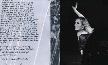 Adele: Δεν ξανακάνει περιοδείες; Το ιδιόχειρο σημείωμά της