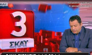 """Χωρίς τον Μπογδάνο η εκπομπή """"ΣΚΑΪ στις 3"""" - Το μήνυμα του δημοσιογράφου και η ανακοίνωση του ΣΚΑΙ!"""