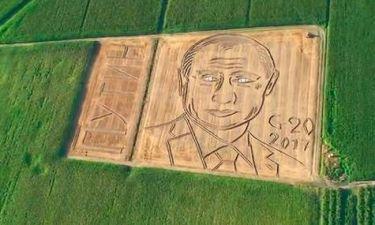 Ιταλός δημιούργησε ένα γιγάντιο πορτρέτο του Πούτιν στο χωράφι του (Pic+Vid)