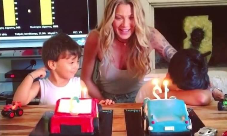 Γενέθλια για τους γιους της Ηλιάδη – Το «τρυφερό» βίντεο που πόσταρε