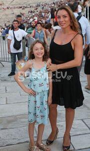 Η Αλεξάνδρα Πασχαλίδου στο Καλλιμάρμαρο με την κόρη της