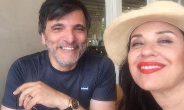 Μαρία Τζομπανάκη: Η selfie με τον σύζυγό της στην Κρήτη