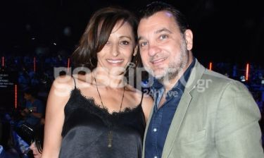 Γιώργος Λεβέντης: Με την σύζυγό του στον τελικό του X-Factor