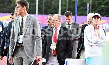 Ο πρίγκιπας Αλβέρτος στο Λονδίνο για το Παγκόσμιο πρωτάθλημα στίβου