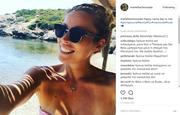 Μαριέττα Χρουσαλά: H νέα φωτογραφία της από την παραλία στον πέμπτο μήνα εγκυμοσύνης της