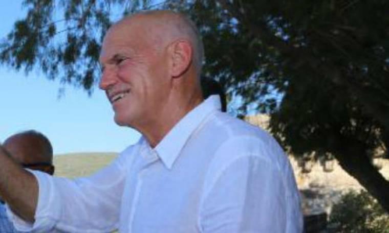Σε ταβερνάκι στη Σκιάθο με τη σύντροφο του ο Γιώργος Παπανδρέου