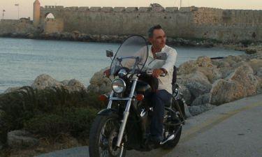 Σταμάτης Γαρδέλης: Στη Ρόδο με τη… μηχανή  του!