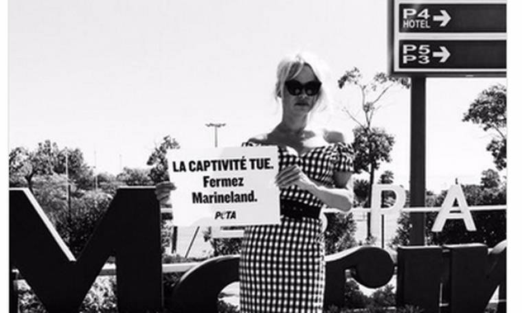 Πάμελα Άντερσον: Η διαμαρτυρία της για την αιχμαλωσία ζώων