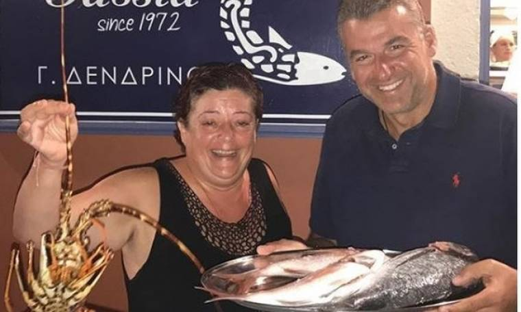 Ο Γιώργος Λιάγκας στην Κεφαλονιά και το σχόλιο για τα ψάρια της Τασίας
