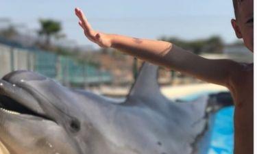 Σίσσυ Χρηστίδου: Με τον γιο της στα δελφίνια