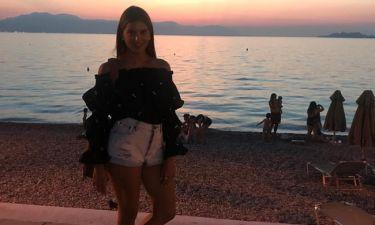 Σταματίνα Τσιμτσιλή: Η ρομαντική φωτογραφία και το ηλιοβασίλεμα
