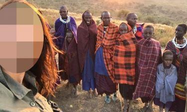 Η selfie γνωστής Ελληνίδας με τους Μασάι