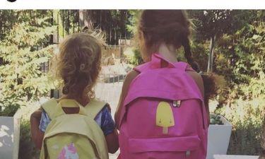 Πρώτη μέρα στο σχολείο για τις κόρες γνωστής Ελληνίδας τραγουδίστριας