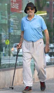 Κορυφαίος ηθοποιός του Hollywood υποβασταζόμενος στους δρόμους του Μανχάταν