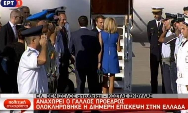 Επίσκεψη Μακρόν: Το «καυτό» φιλί στο στόμα του Γάλλου προέδρου στη Μπριζίτ (pic)